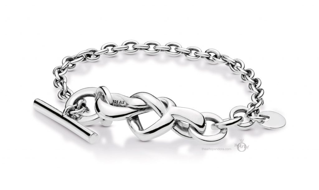 PANDORA Knotted Hearts T-Bar Bracelet (598100) mothers day 2019