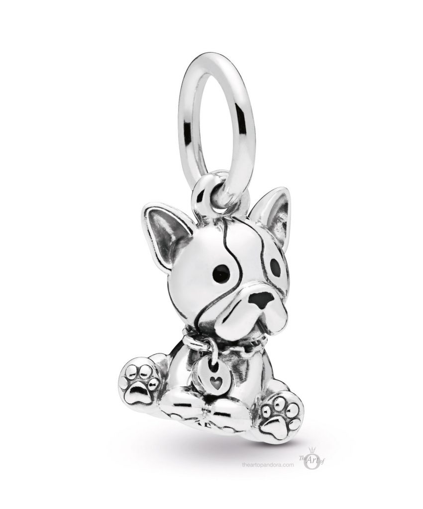 PANDORA French Bulldog Dangle Charm (798008EN16) mothers day 2019