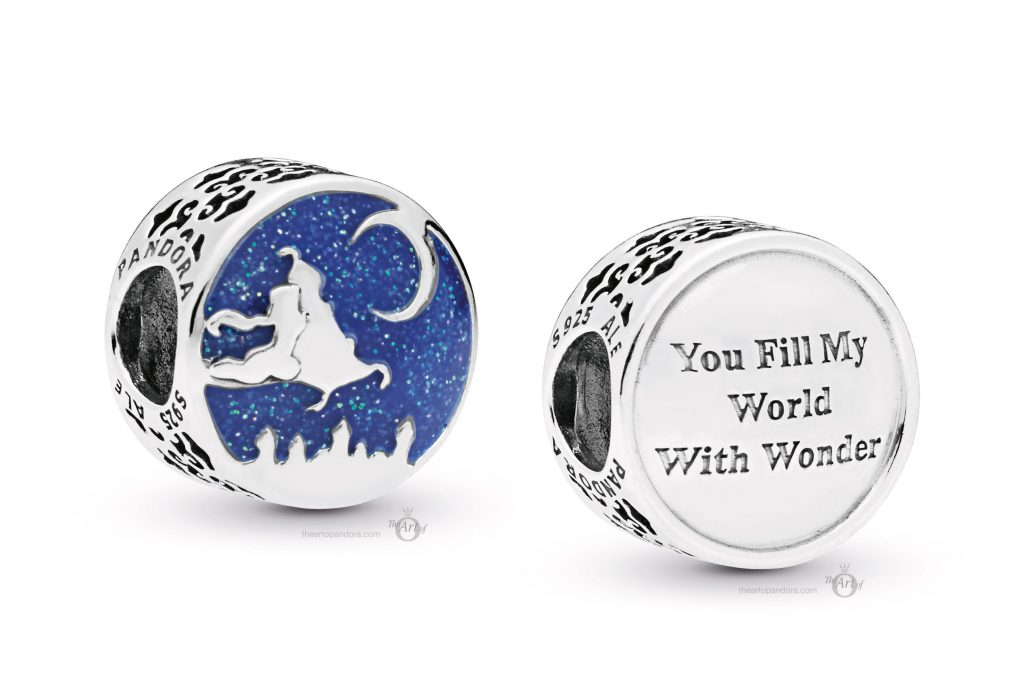 PANDORA-798039ENMX Disney Aladdin and Jasmine Magic Carpet Ride Charm mothers day 2019