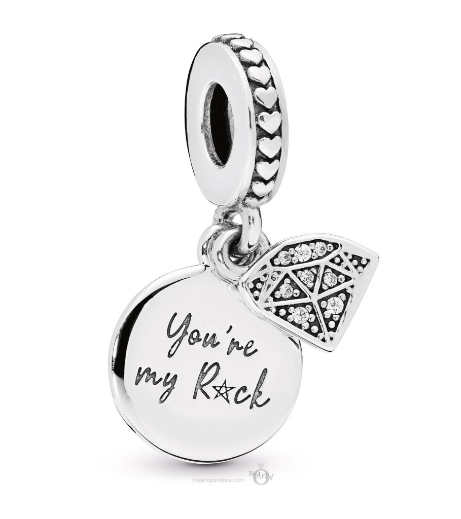PANDORA You're My Rock Dangle Pendant (798102CZ) mothers day 2019