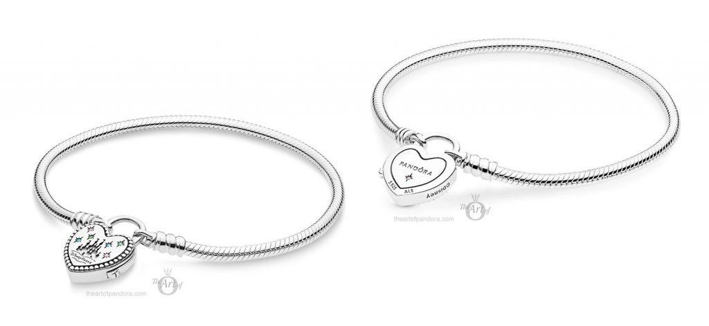 Disney Parks PANDORA Fantasyland Castle Heart Bracelet (597993PCZMX)