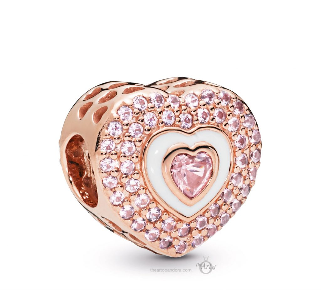 PANDORA Rose Heart Charm (788097NPR) mothers day 2019
