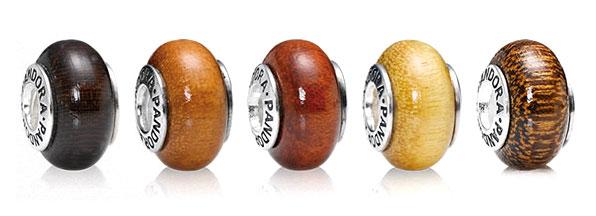 pandora wooden beads charms