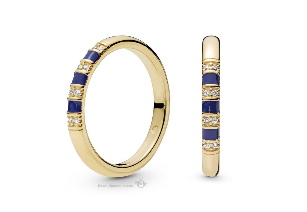 PANDORA Shine Blue Enamel Ring (168052CZ) PANDORA Summer 2019
