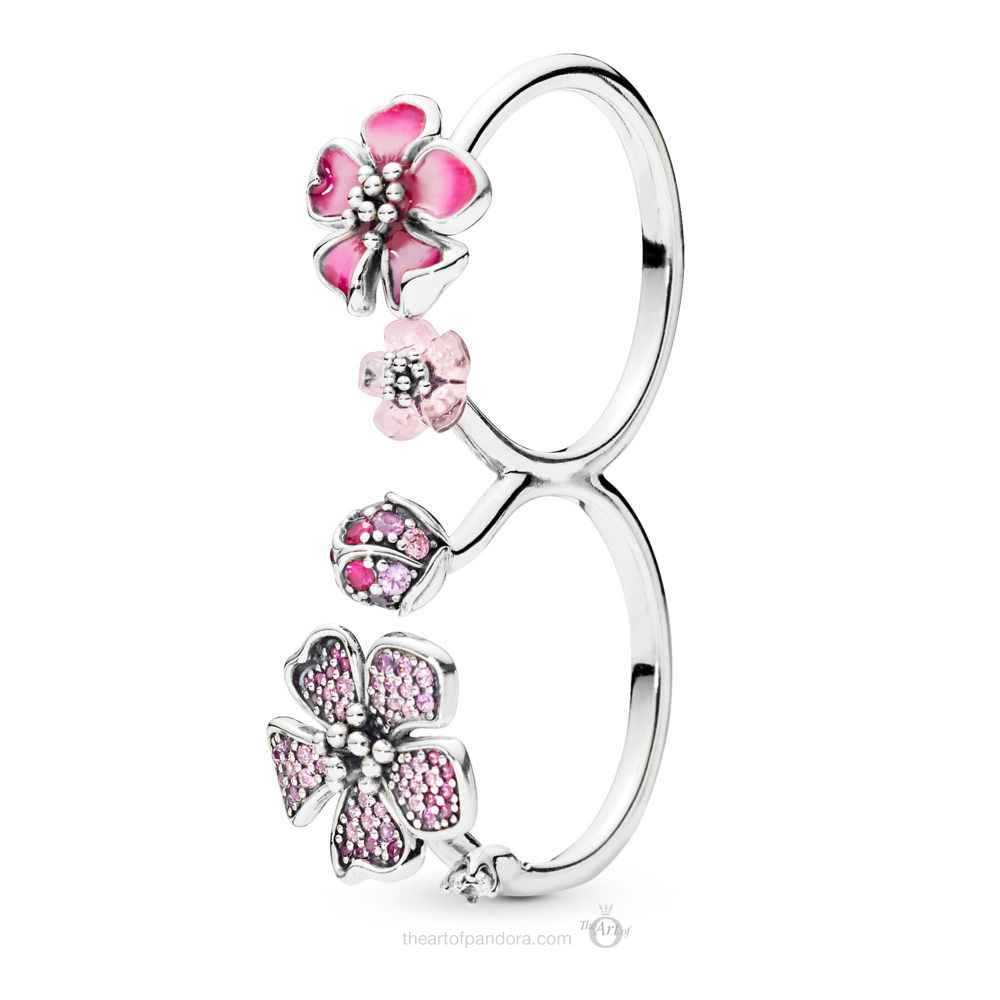 PANDORA Peach Blossom Flowers Ring  (198091NCCMX)