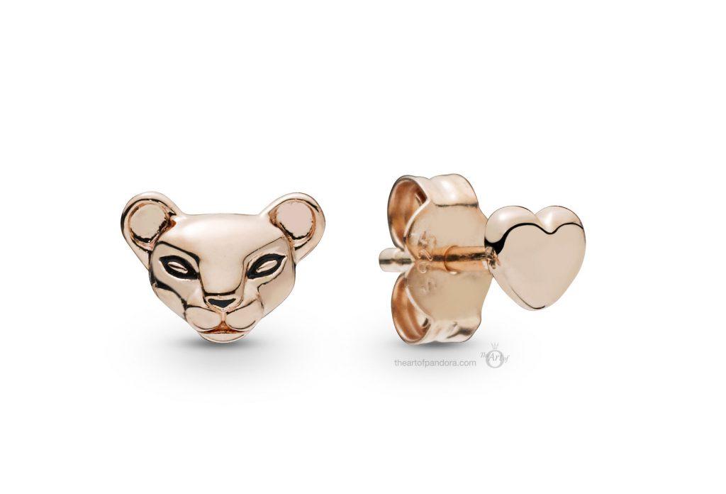 PANDORA Rose Lioness & Heart Stud Earrings (288022EN16) PANDORA Summer 2019