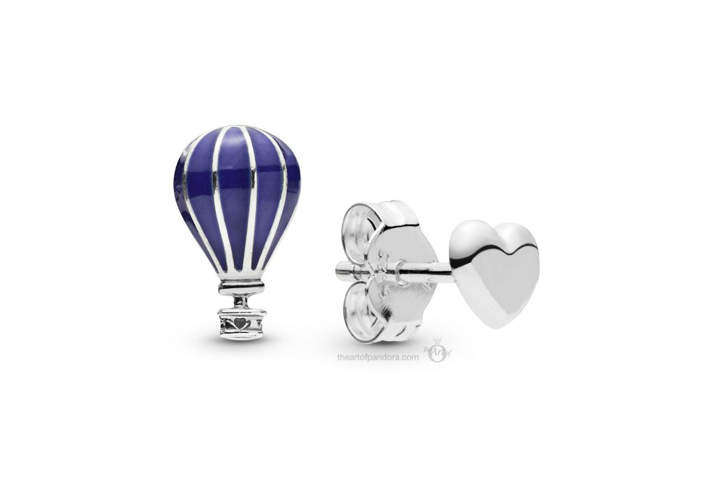 PANDORA Air Balloon & Heart Silver Stud Earrings (298058EN195) PANDORA Summer 2019