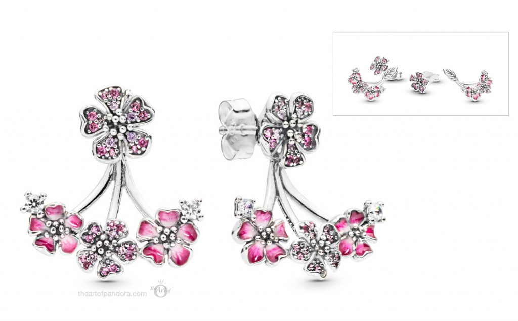 PANDORA Peach Blossom Flowers Earrings  (298113NCCMX)