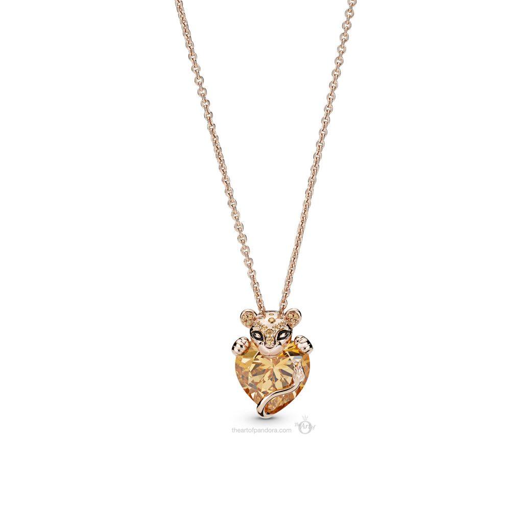 PANDORA Summer 2019 PANDORA Rose Lioness Pendant Necklace (388068CZM)