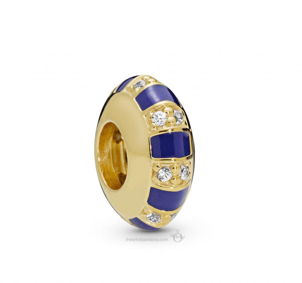 PANDORA Shine Blue Enamel Spacer (768029CZ) PANDORA Summer 2019