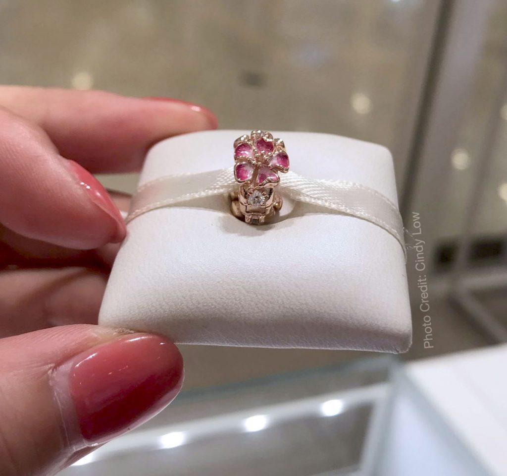 PANDORA Rose Peach Blossom Flower Clip  (788099CZ)