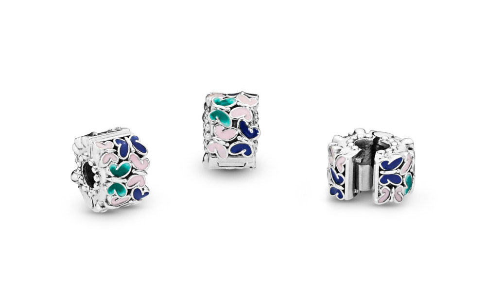 797863ENMX PANDORA Butterfly Arrangement Clip Spring 2019 Collection New Summer Mother's Day