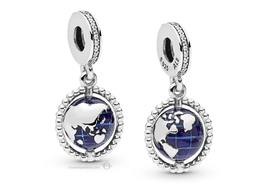 PANDORA Summer 2019 PANDORA Globe Dangle Charm (798021CZ)
