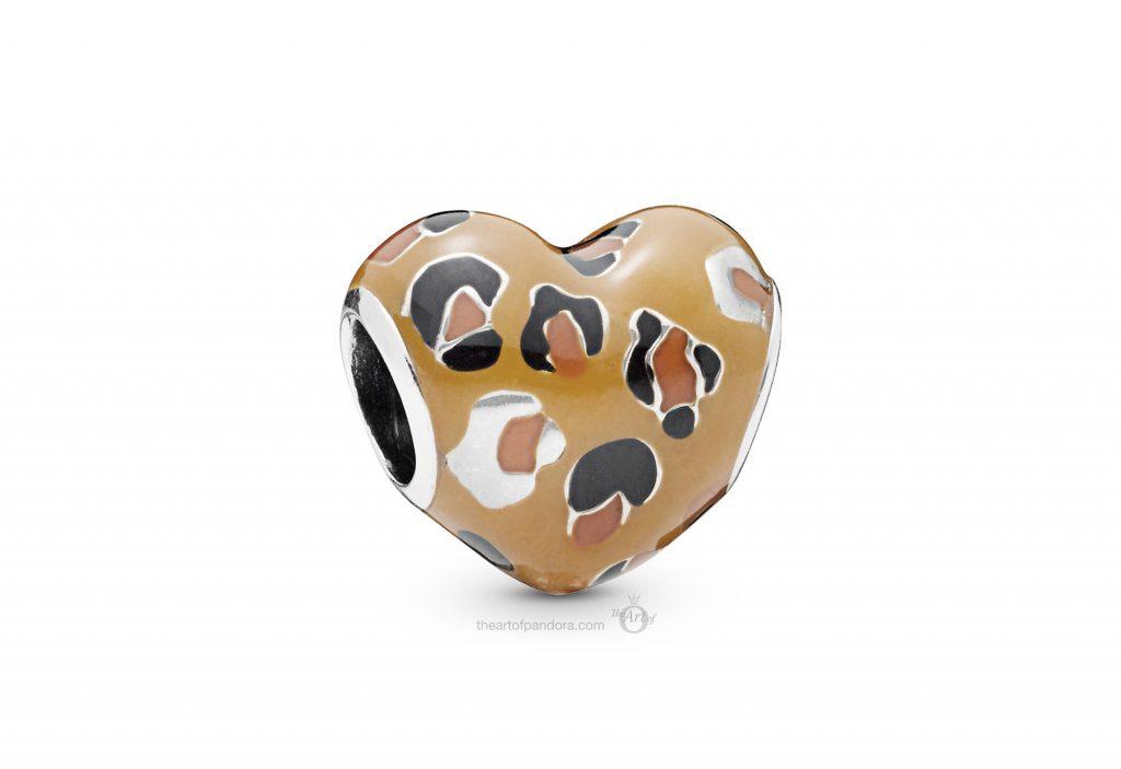 PANDORA Leopard Print Heart Charm (798065ENMX) PANDORA Summer 2019