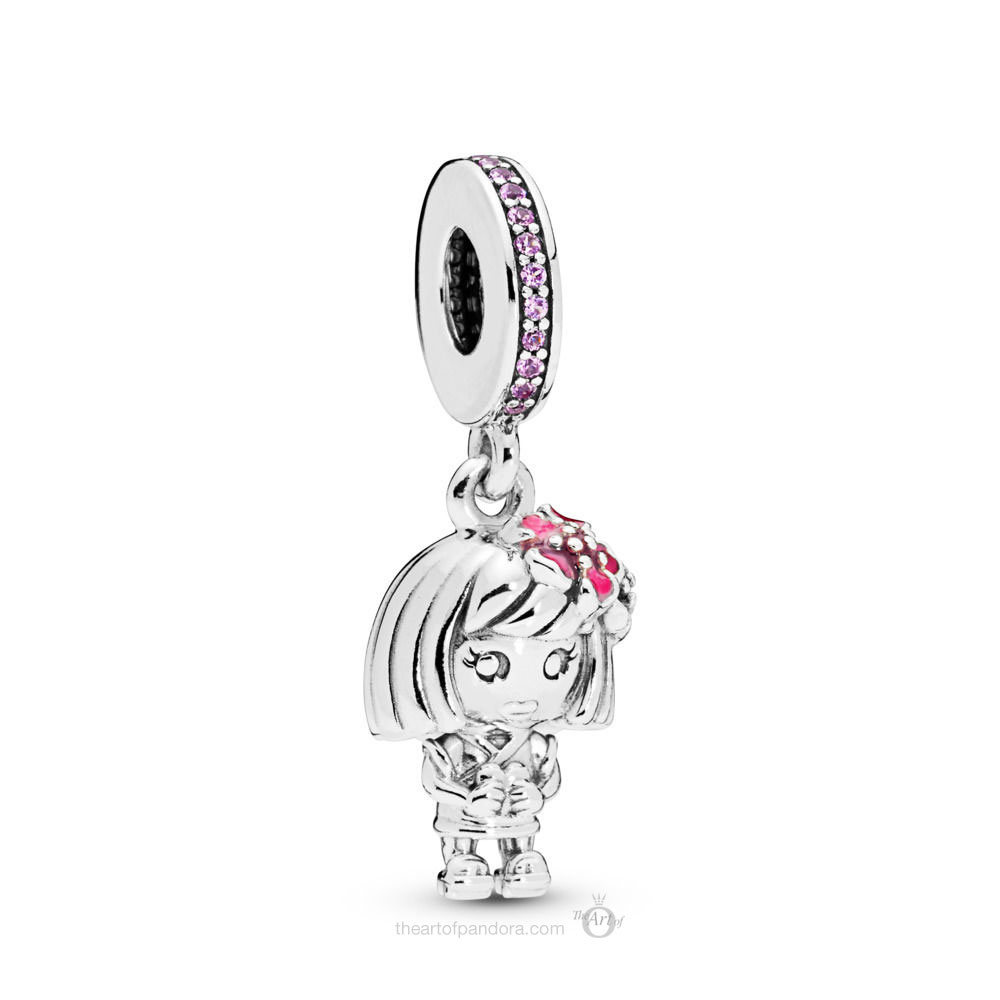 LIMITED EDITION PANDORA Chinese Flower Girl Charm  (798114SSP)