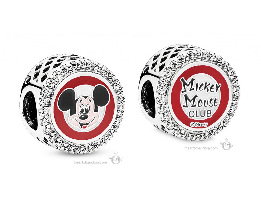 PANDORA Disney Parks Mickey Mouse Club Charm