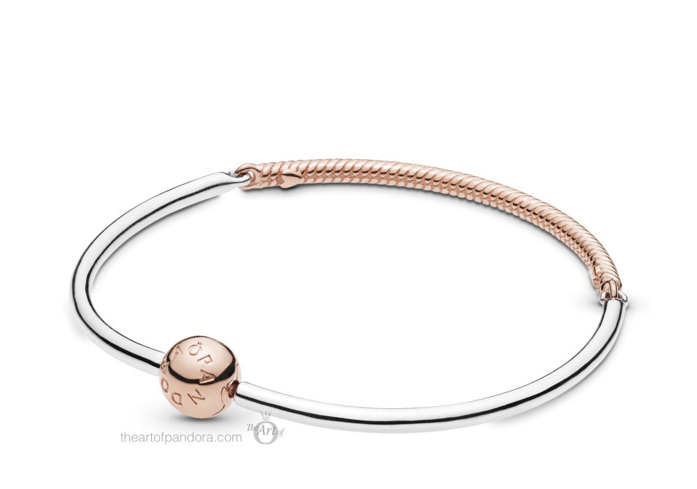 Pandora Rose Moments Three Link Bangle (588143) Pre Autumn 2019