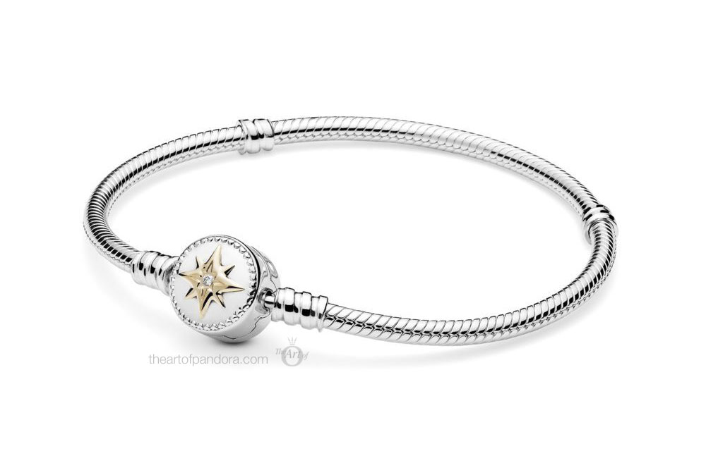 Pandora Silver & 14k Gold Moments Love Compass Bracelet (598538C01_P1)
