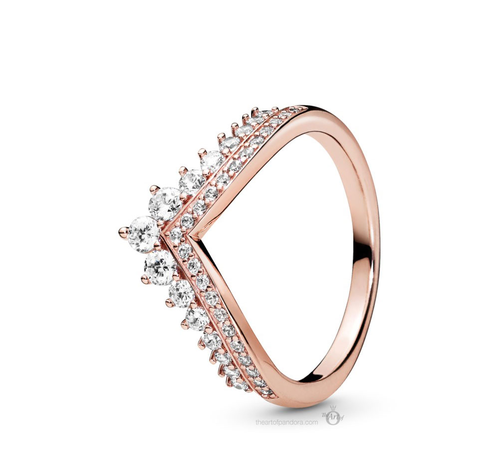 Pandora Rose Princess Wishbone Ring (187736CZ) Autumn 2019