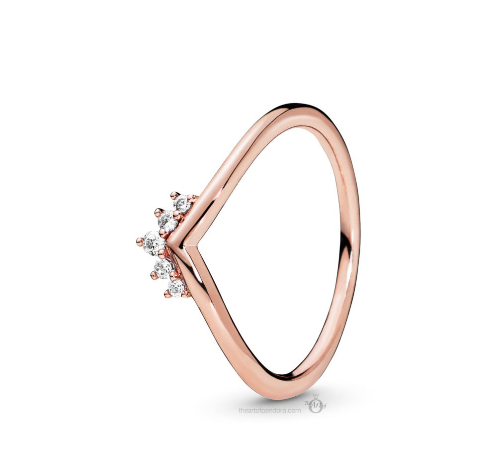 Pandora Rose Tiara Wishbone Ring (188282CZ) Autumn 2019