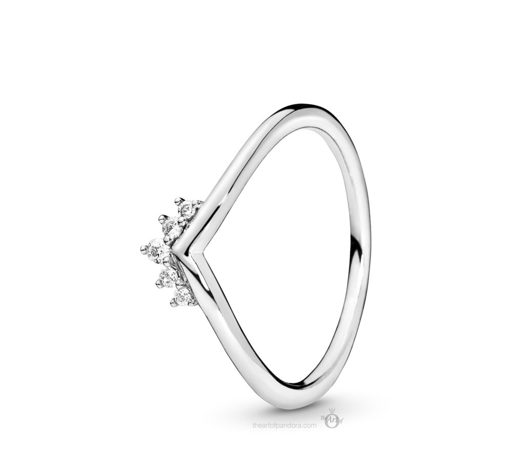 Pandora Tiara Wishbone Ring (198282CZ) Autumn 2019