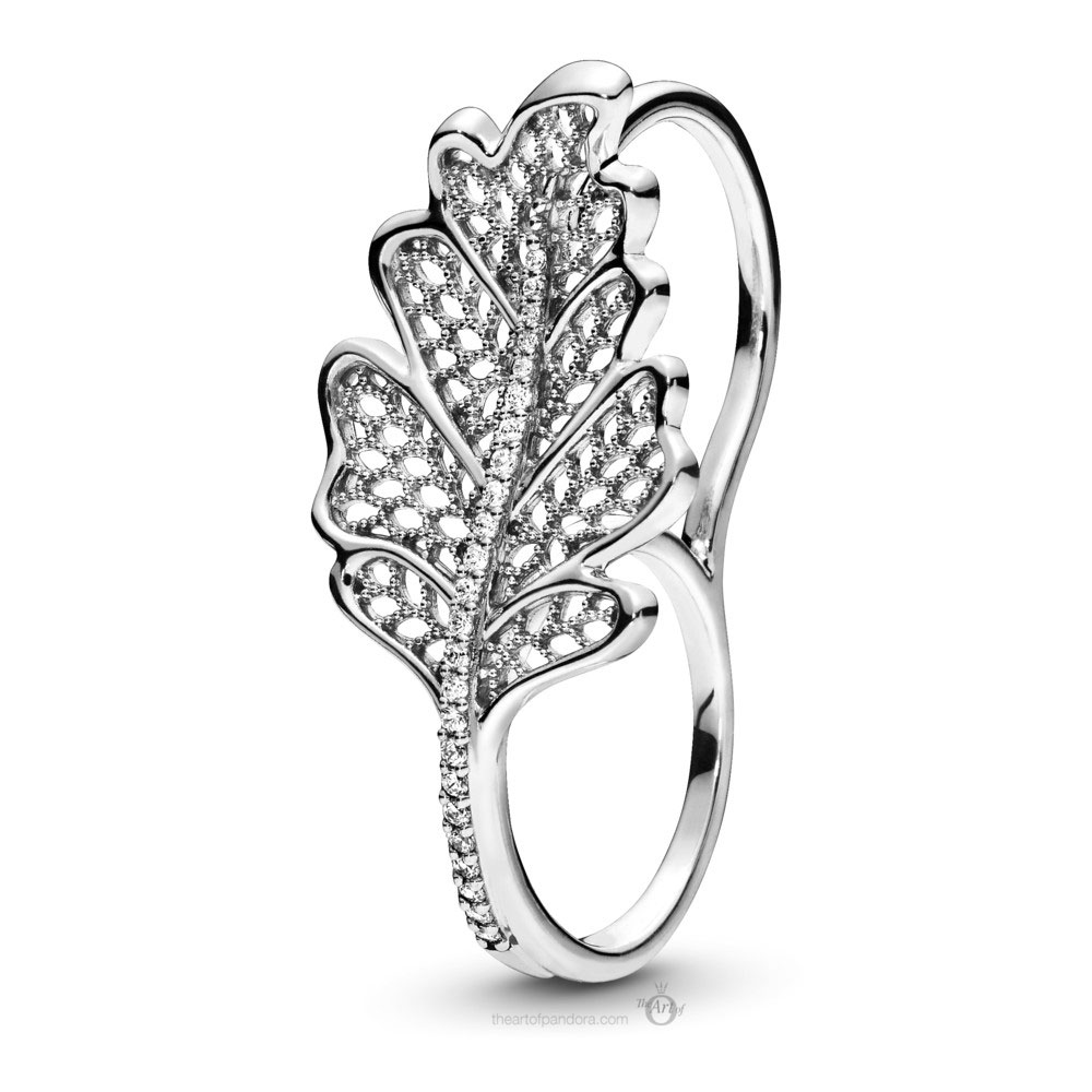 Pandora Oak Leaf Double Ring (198347CZ) Autumn 2019