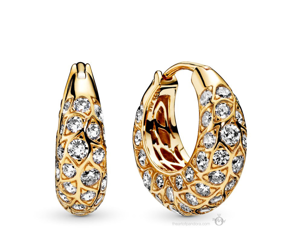 Pandora Shine Sparkling Hoop Earrings (268318CZ) Autumn 2019