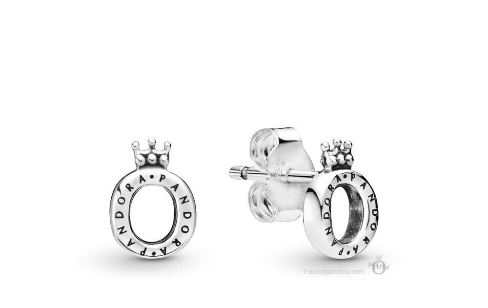 Pandora Polished Crown O Stud Earrings (298295) Autumn 2019