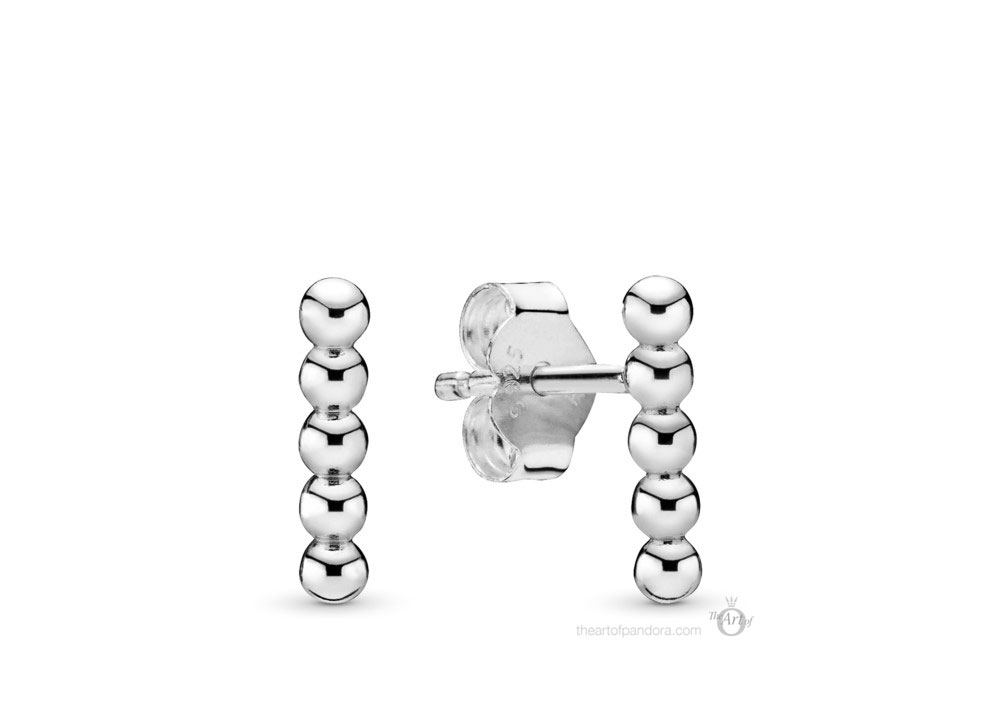 Pandora Row of Beads Stud Earrings (298359) Autumn 2019