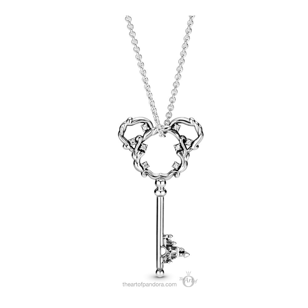 398233CZ-90 Pandora Disney Parks Mickey Mouse Key Necklace