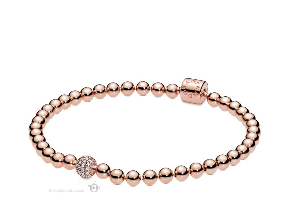 Pandora Rose Beads & Pave Bracelet (588342CZ) Autumn 2019