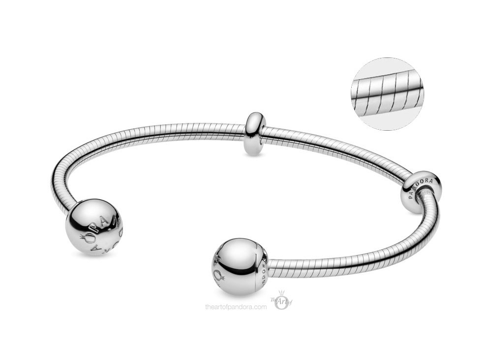 Pandora Moments Snake Chain Style Open Bangle (598291) Autumn 2019