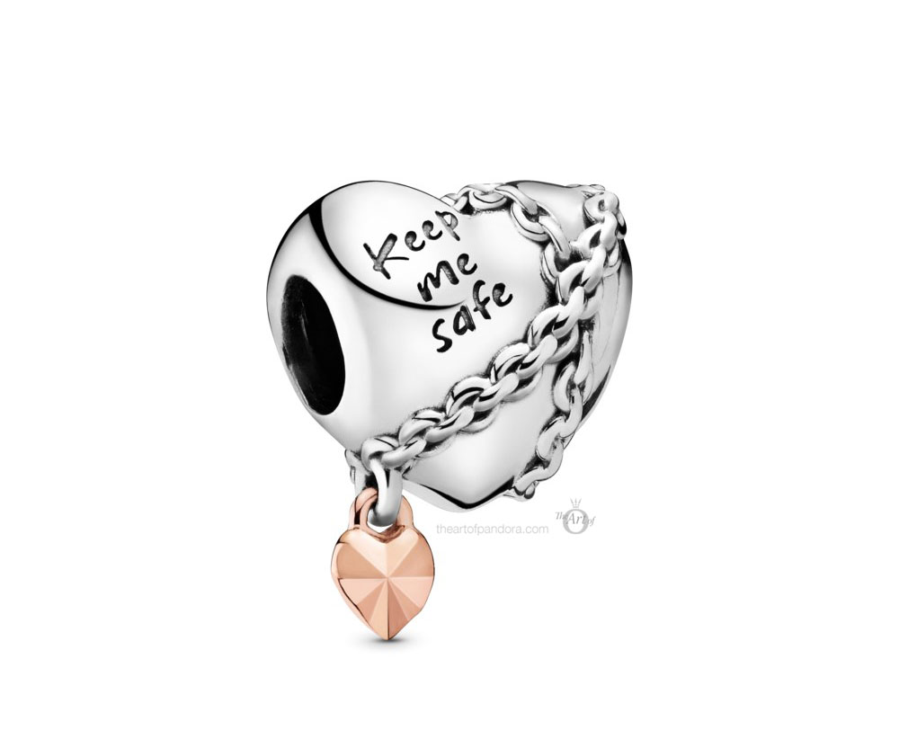 Pandora Chained Heart Charm (788344) Autumn 2019