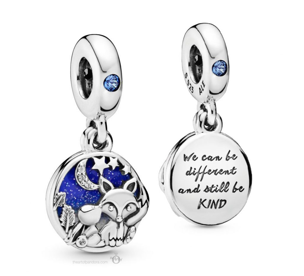Pandora Fox & Rabbit Charm (798239NMB)