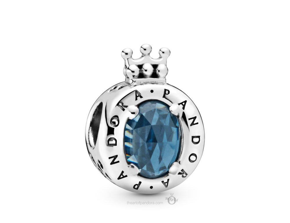 Pandora Blue Sparkling Crown O Charm (798266NMB) Autumn 2019