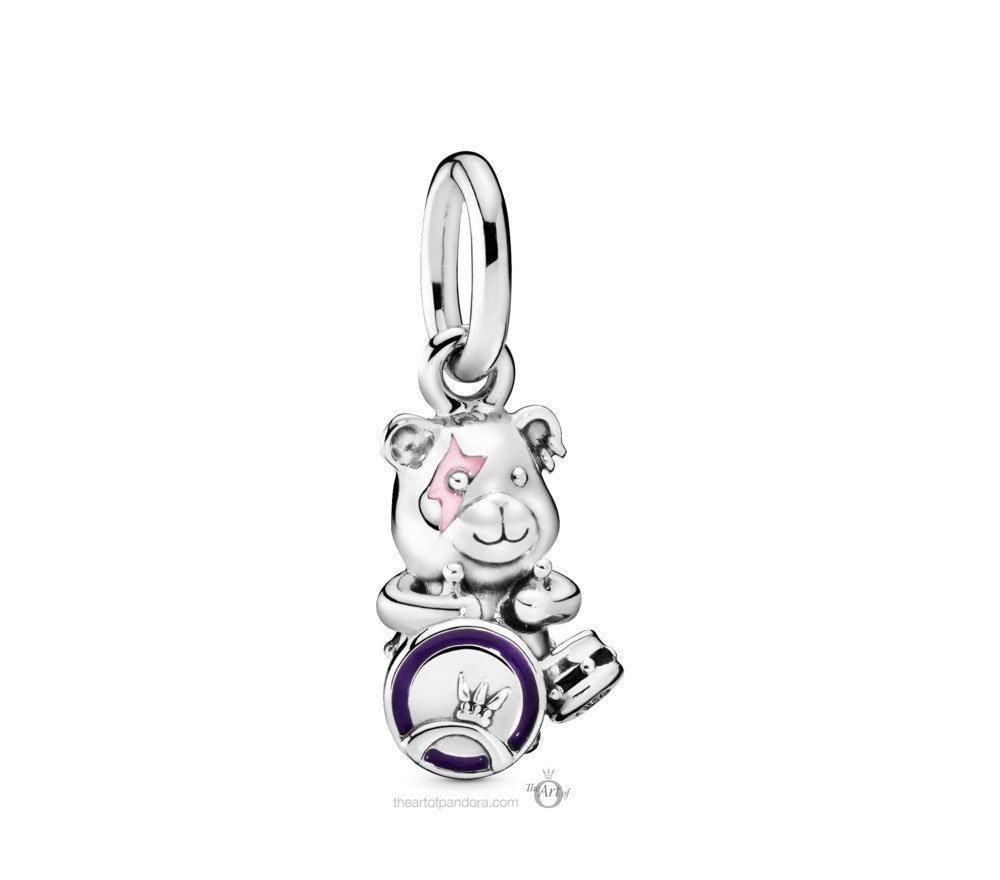 Pandora Theodore Bear Punk Band Charm (798281ENMX) Autumn 2019