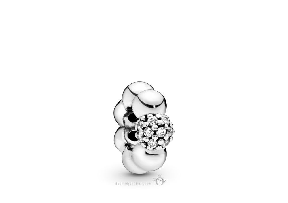 Pandora Polished & Pave Bead Spacer (798310CZ) Autumn 2019