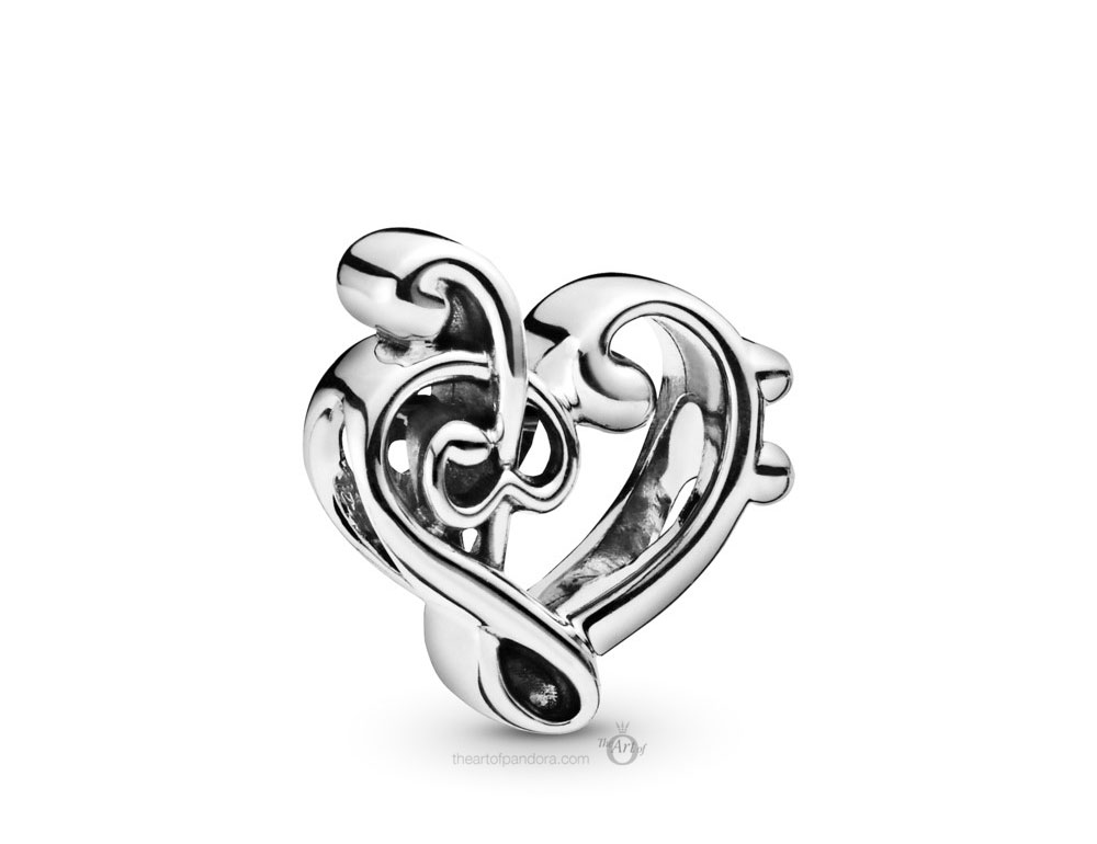 Pandora Heart Treble Clef Charm (798346) Autumn 2019