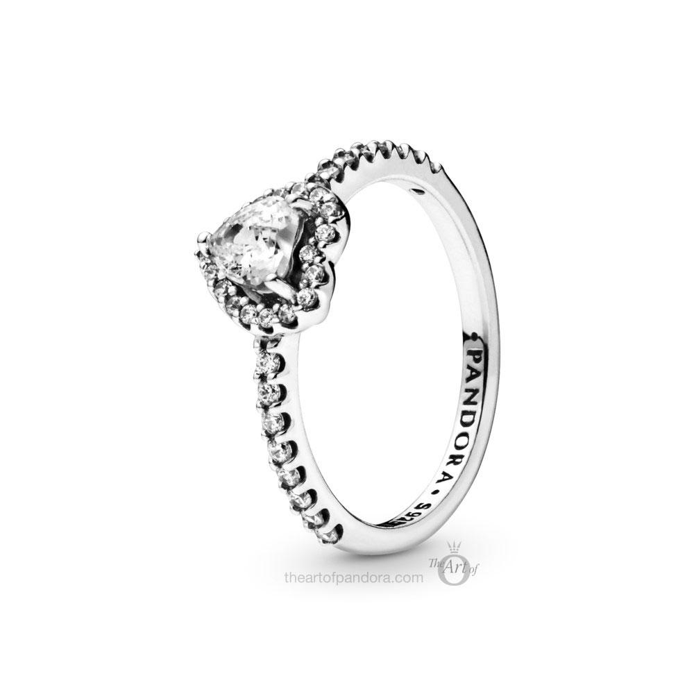 Pandora Sparkling Heart Ring (198421C01)