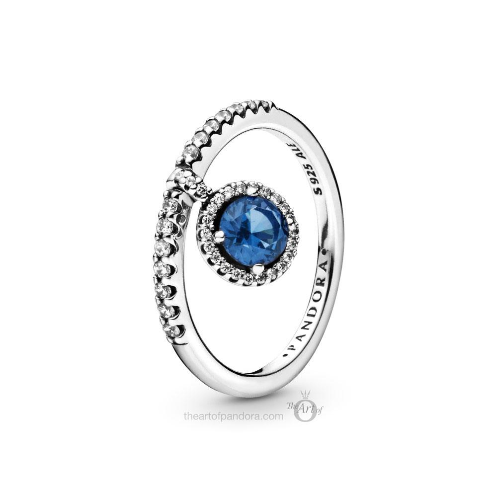 Pandora Dangling Round Sparkle Ring 198491C01