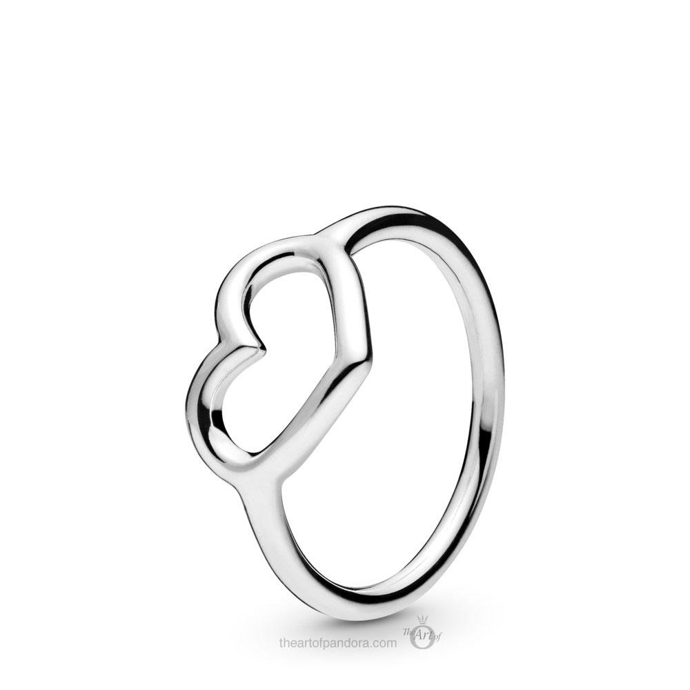 198613C00 Pandora Polished Open Heart Ring