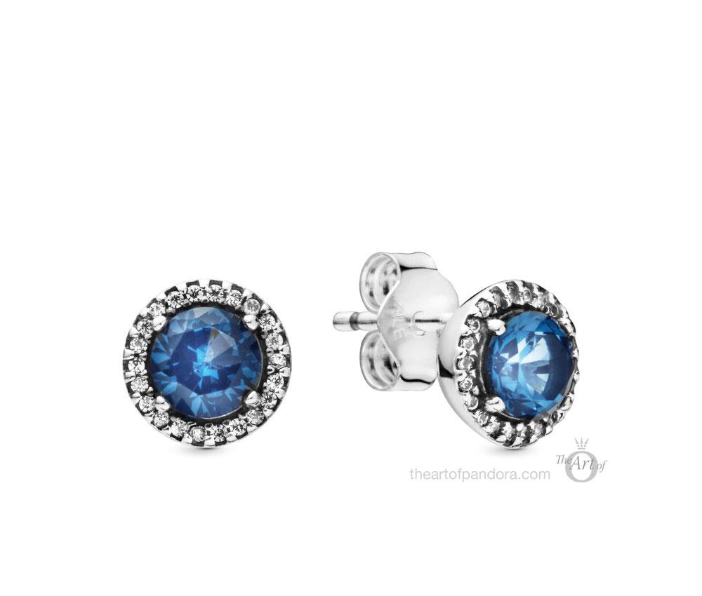 Pandora Sparkling Blue Stud Earrings (296272C01)