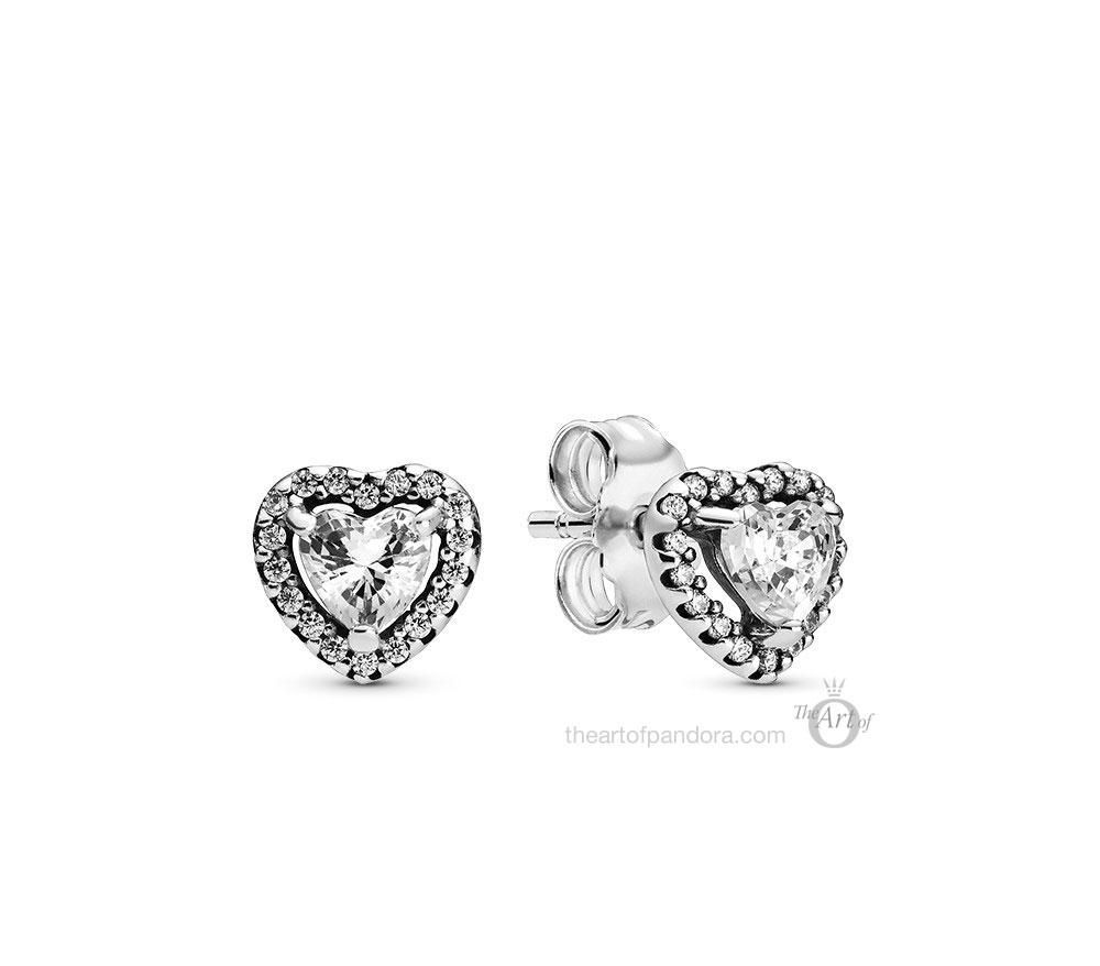 Pandora Sparkling Heart Stud Earrings (298427C01)