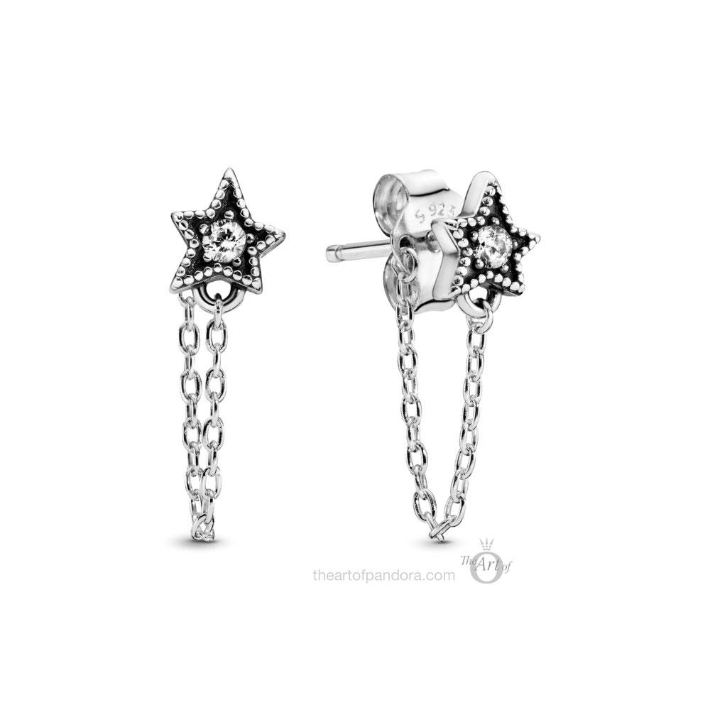 Pandora Celestial Stars Earrings 298604C01