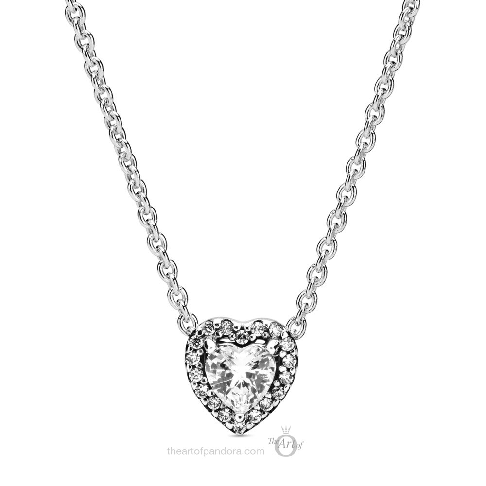 Pandora Sparkling Heart Necklace 398425C01