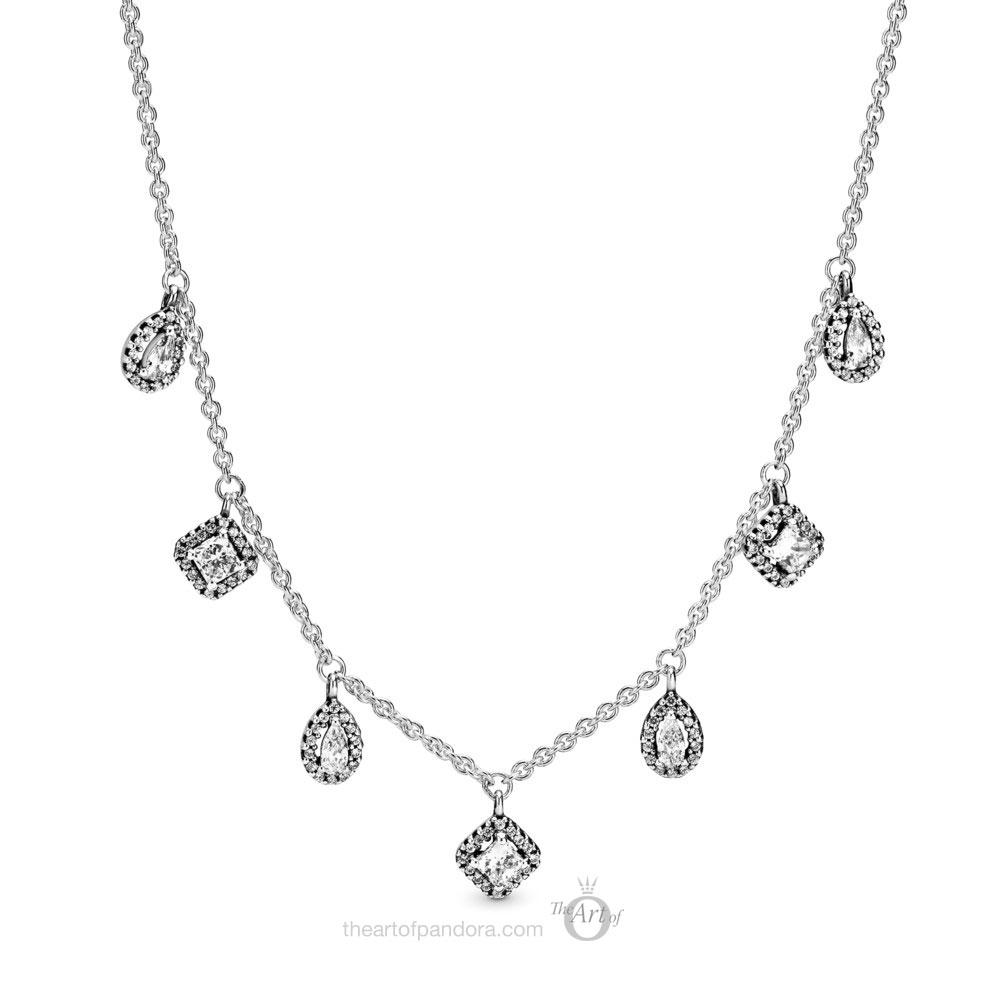 Pandora Dangling Geometric Shapes Necklace 398495C01