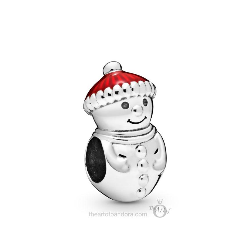 Pandora Snowman & Christmas Hat Charm (798478C01) winter 2019
