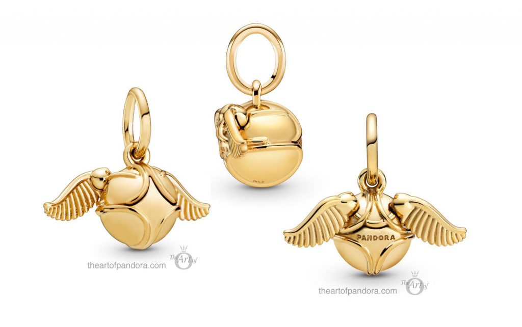 Limited Edition Pandora Golden Snitch Clasp Pendant Charm (368618C00)
