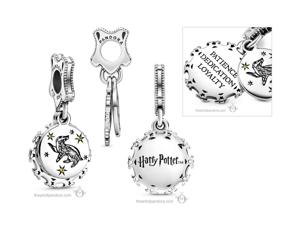 Pandora Harry Potter Hufflepuff Dangle Charm (798832C01)