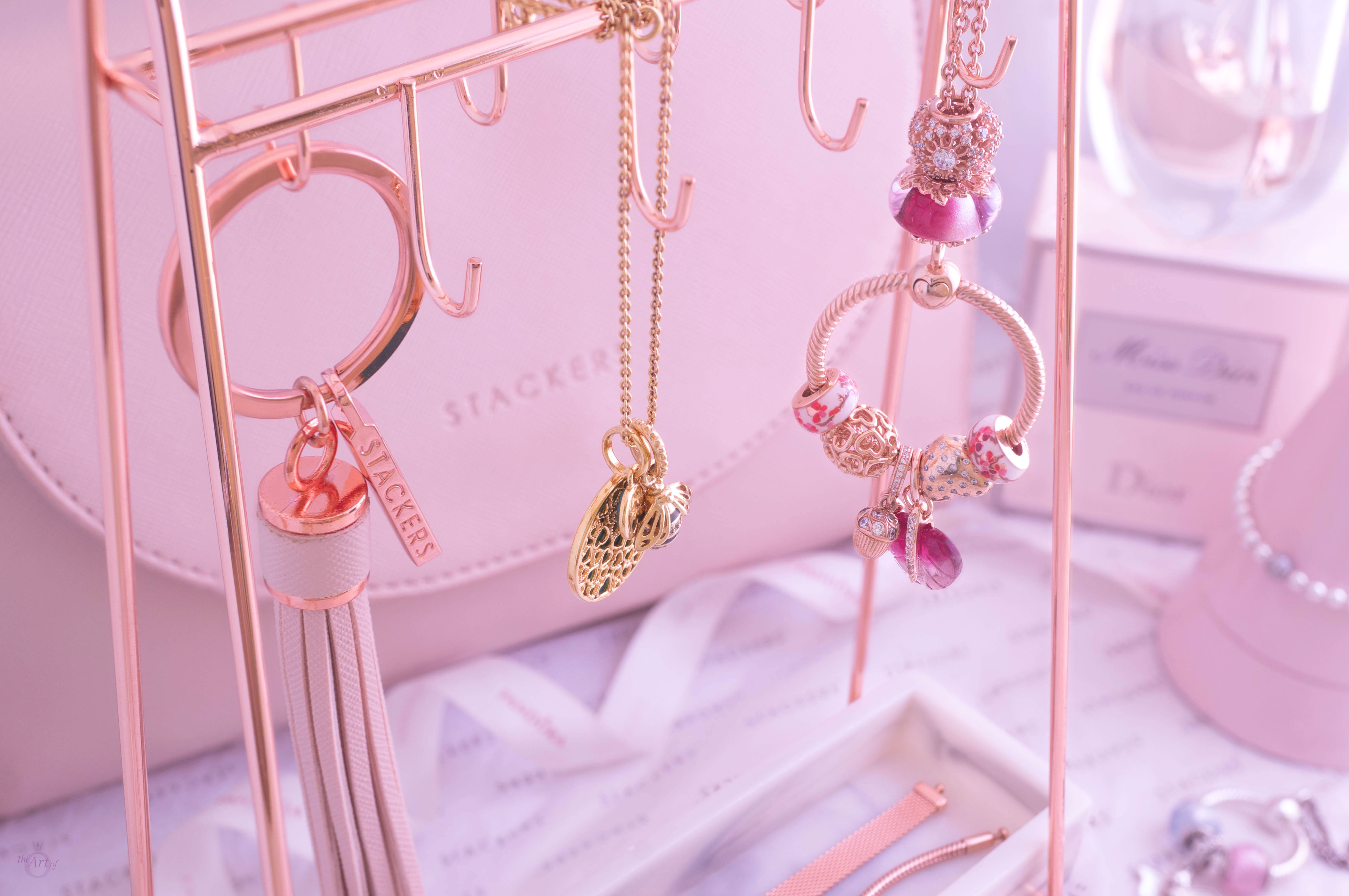 Stackers Rose Gold Marble Jewellery Stand The Art Of Pandora The 1 Pandora Blog